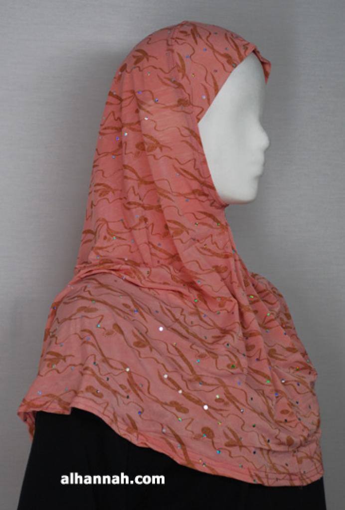 Sparkle Ribbon Print Al Amirah Hijab hi1799