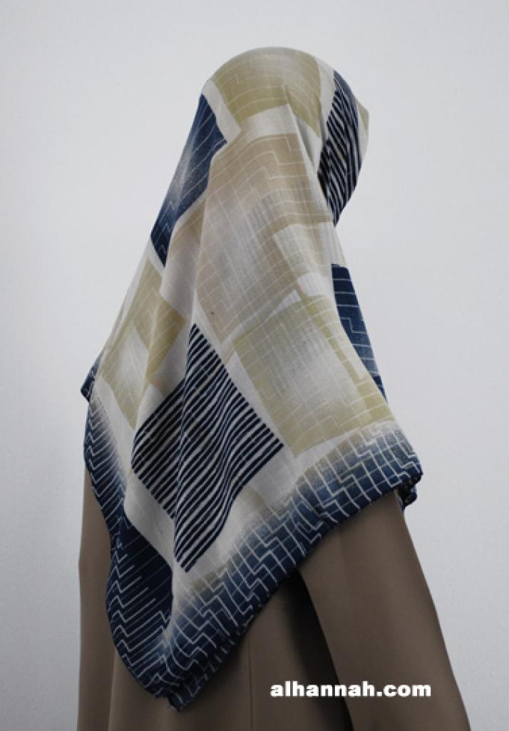 Georgette Geometric Print Hijab hi1800