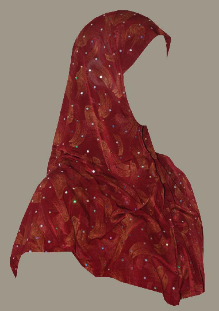 Sparkle Brushstroke Print Al Amirah Hijab  hi1803