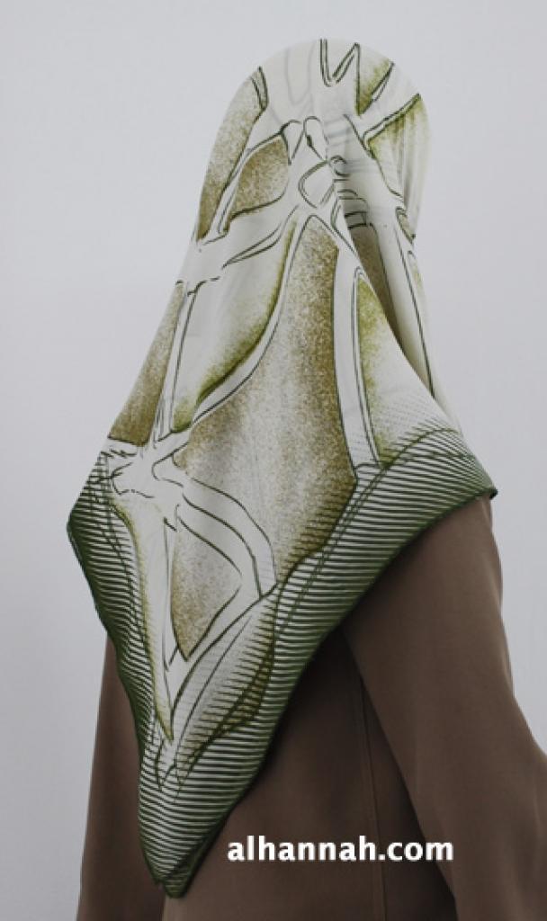 Georgette Geometric Print Hijab  hi1807
