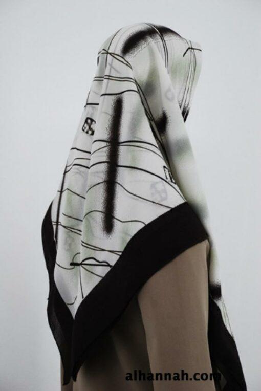 Georgette Geometric Print Hijab hi1808