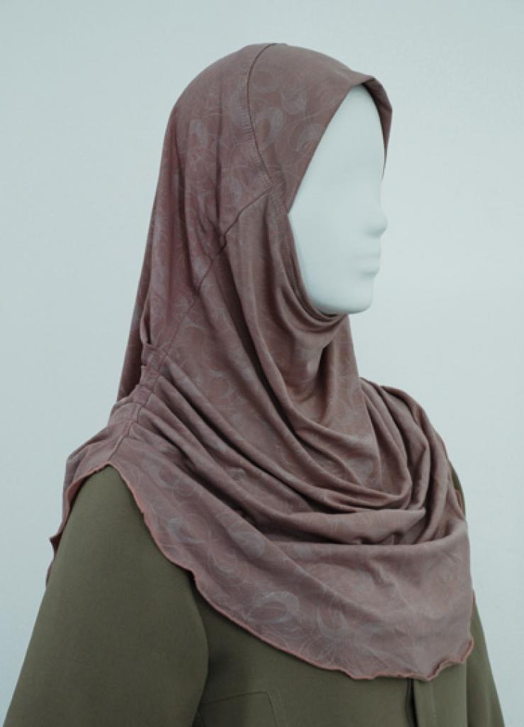 Solid Color Ruched Al Amirah Hijab  hi1813