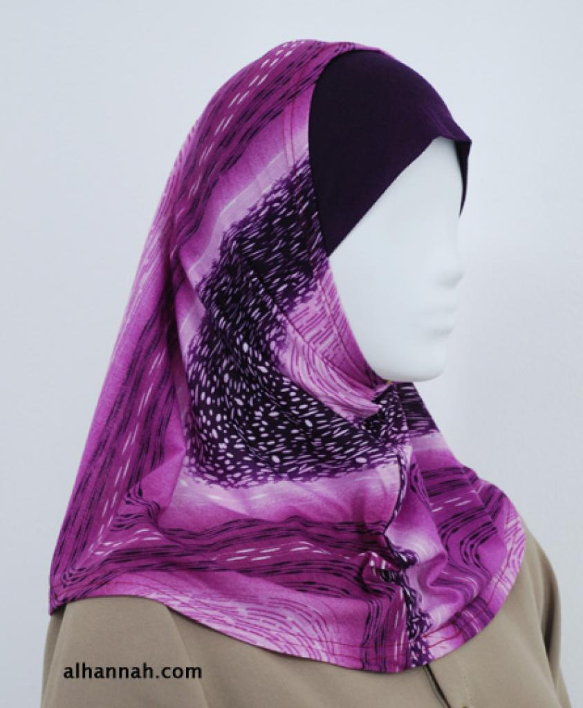 Multitone Stripe Al Amirah Hijab  hi1823