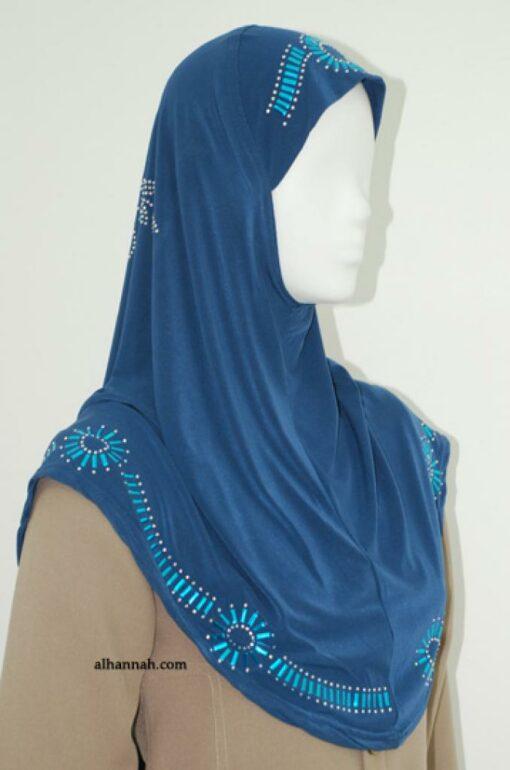 Al-Amirah One Piece Beaded Hijab hi1827