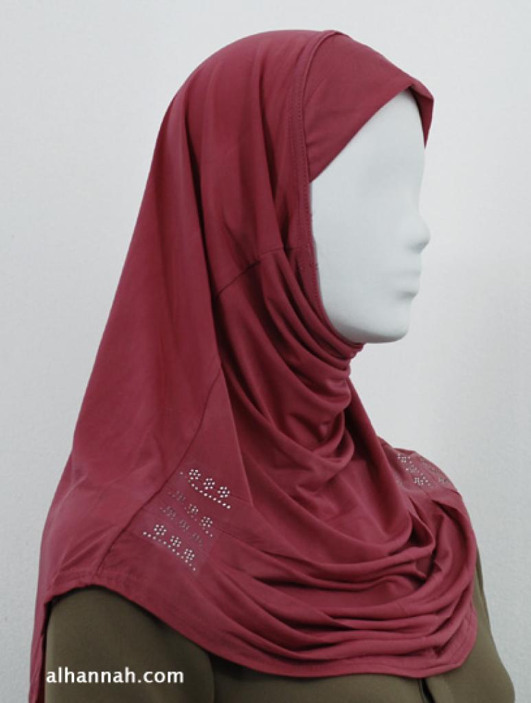 Al-Amirah One Piece Beaded Hijab hi1829