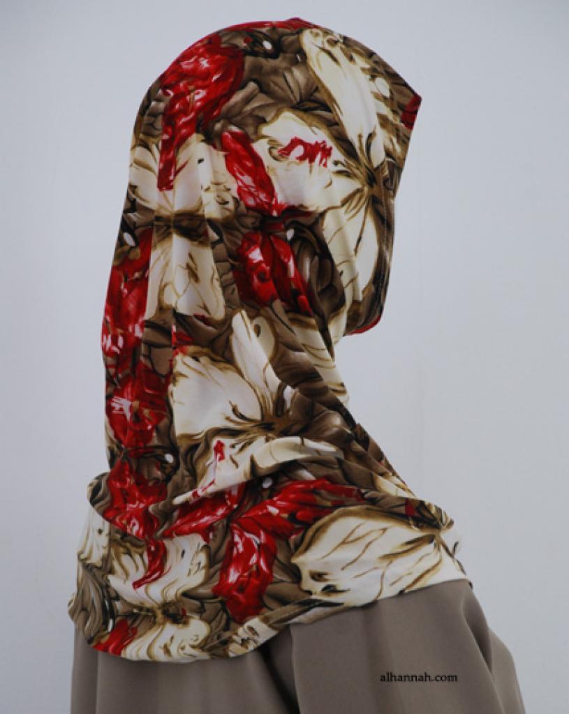 Floral Print Al Amirah Hijab hi1833