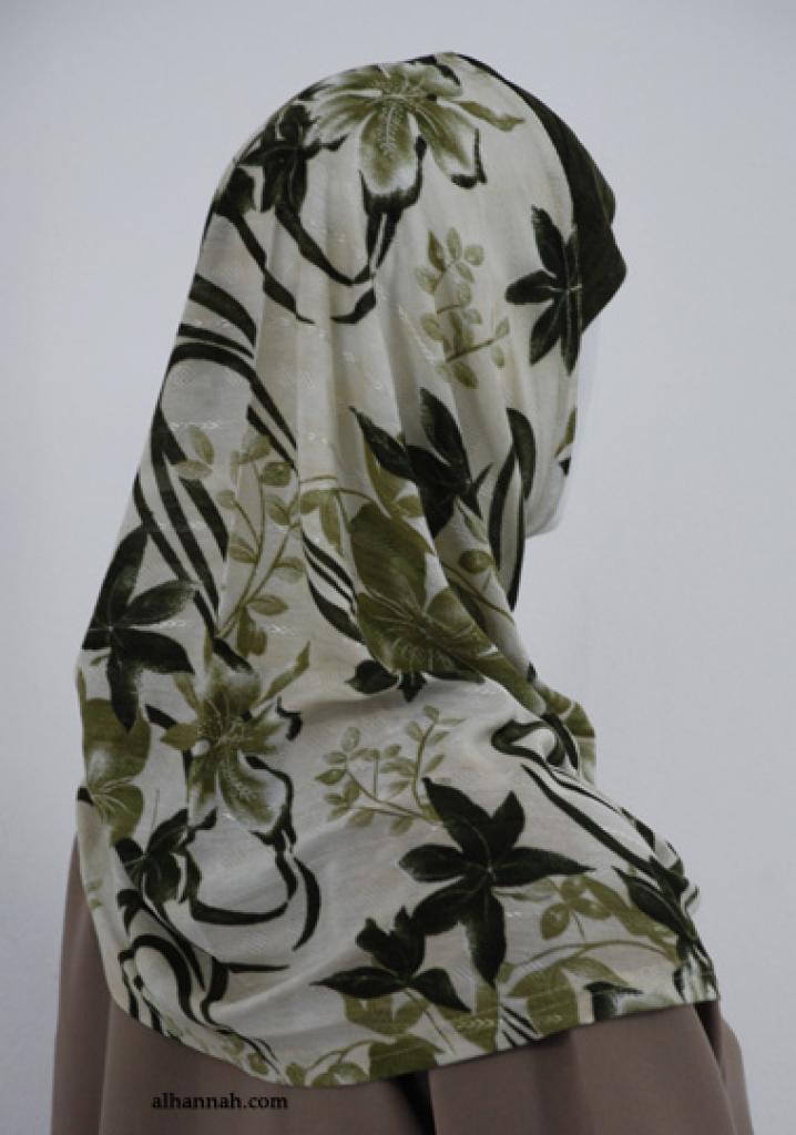 Floral Print Al Amirah Hijab  hi1837