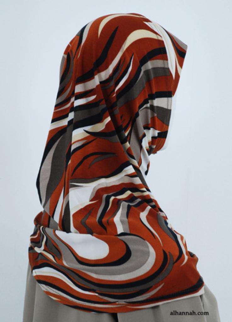 Waves Print Al Amirah Hijab  hi1838