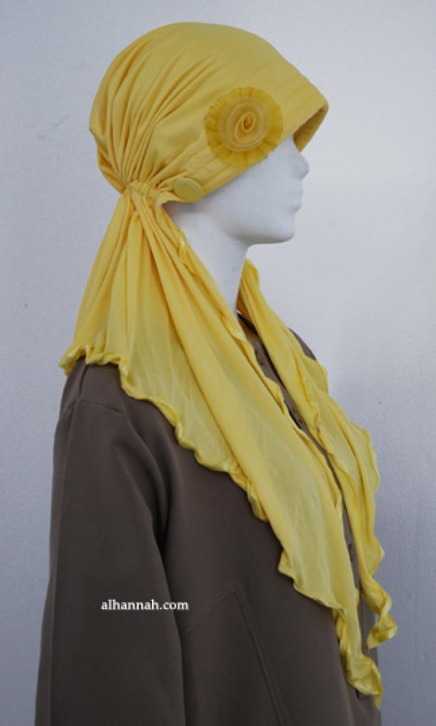 Womens Floral Applique Turban Cap hi1841