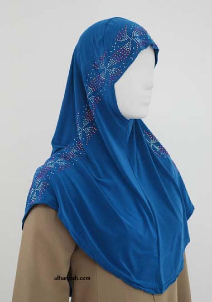Al-Amirah One Piece Beaded Hijab hi1844