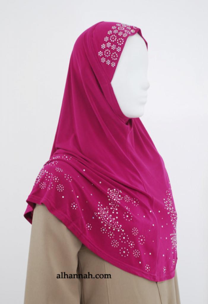 Al-Amirah One Piece Beaded Hijab hi1846