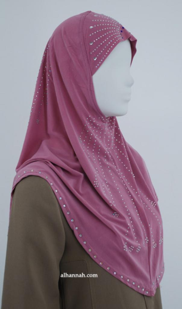 Al-Amirah One Piece Beaded Hijab  hi1847