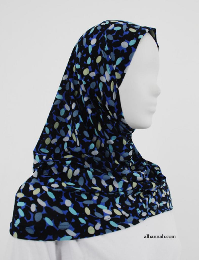 Contrasting Ellipse Print Al Amirah Hijab hi1848