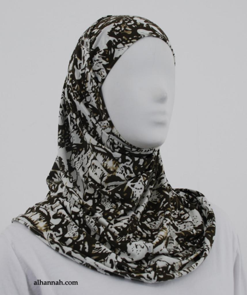 Floral Print Al Amirah Hijab hi1850