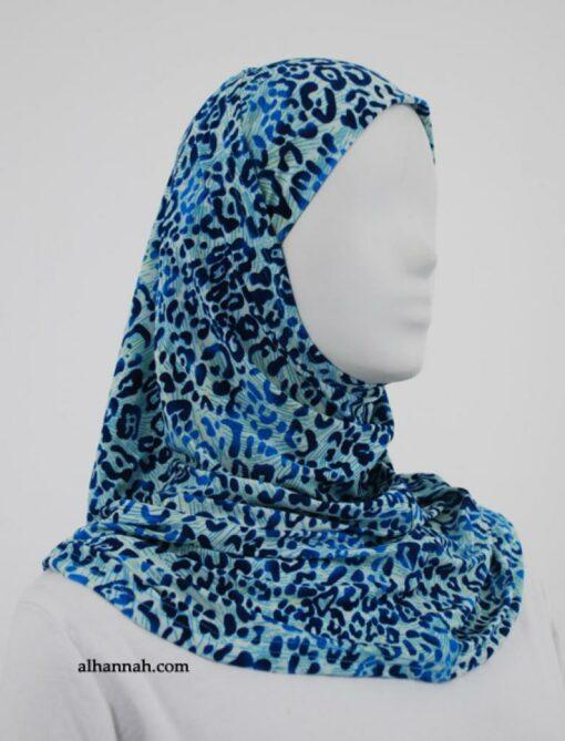 Printed Lycra Al Amirah Hijab  hi1853