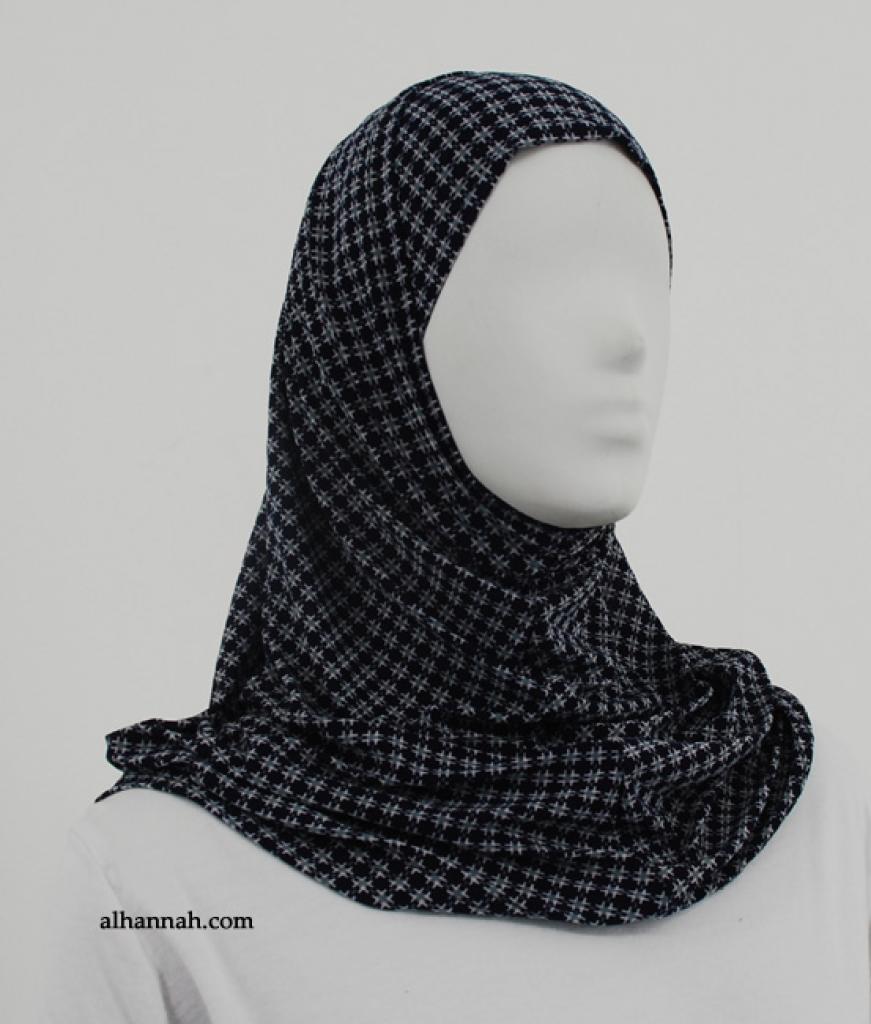 Striped Print Al Amirah Hijab hi1854