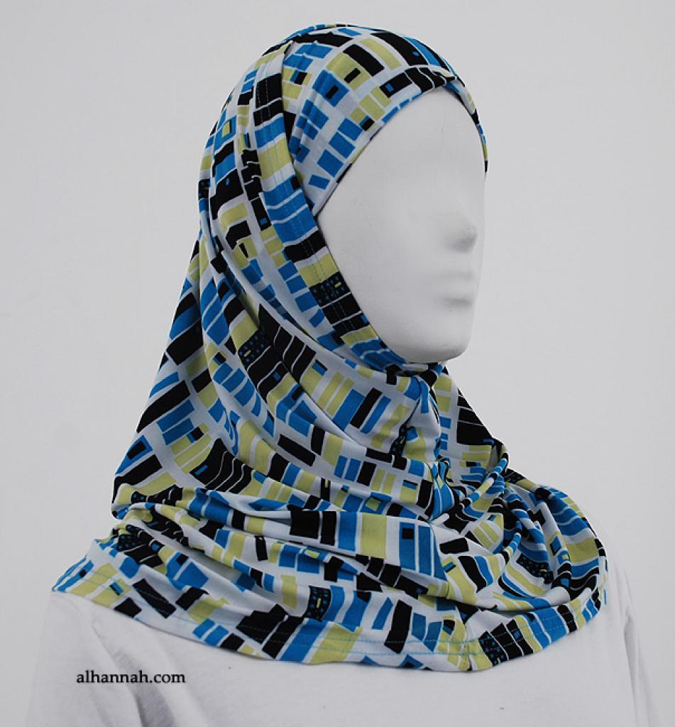 Contemporary Block Print Al Amirah Hijab hi1855