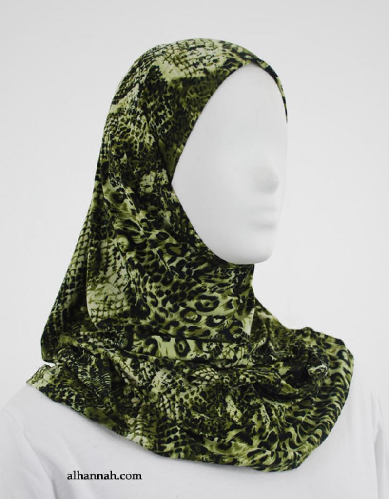 Printed  Lycra Al Amirah Hijab hi1857