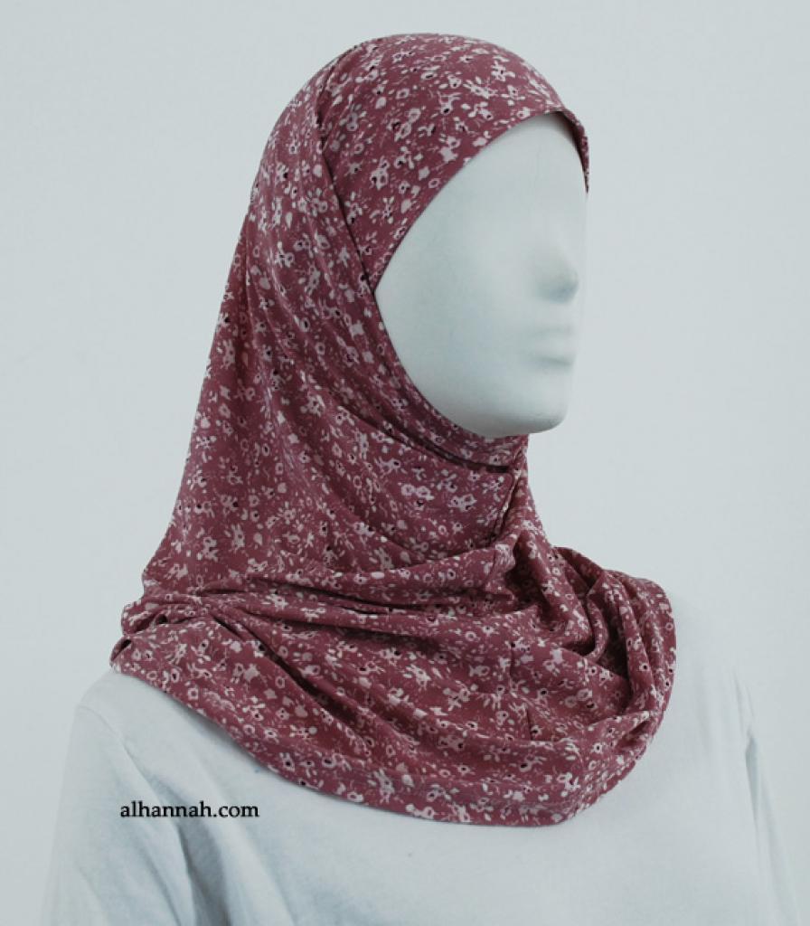 Printed  Lycra Al Amirah Hijab hi1858