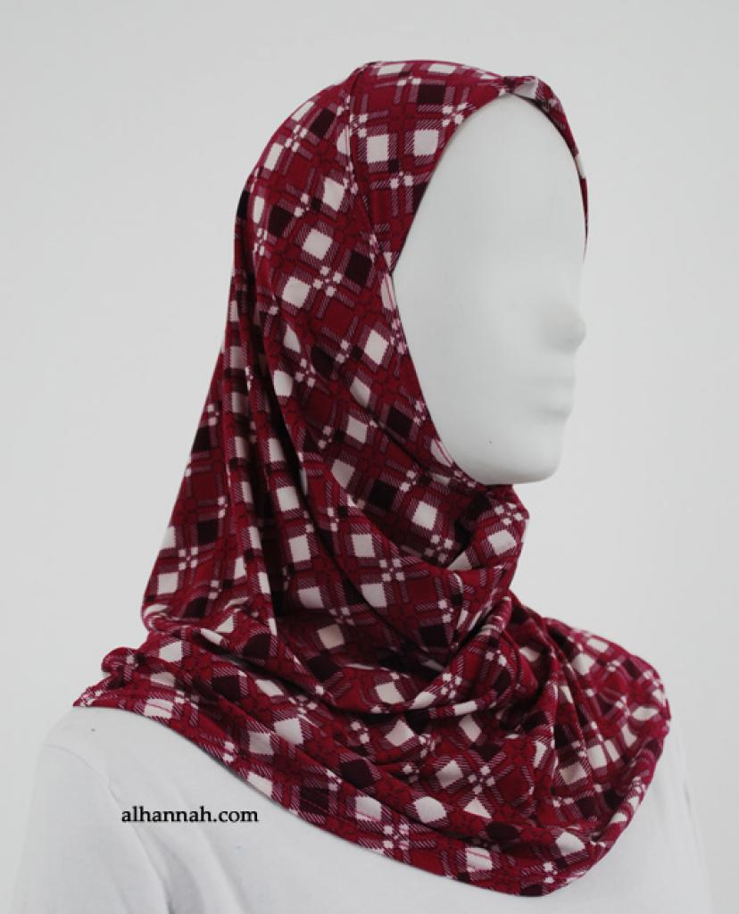 Printed  Lycra Al Amirah Hijab hi1859