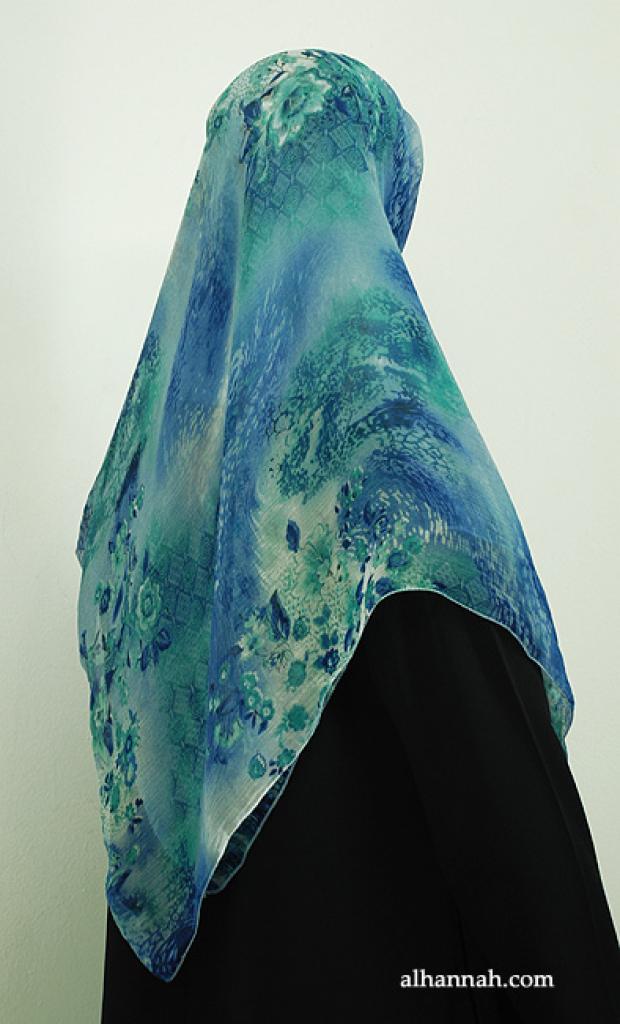 Multicolor Printed Turkish Georgette Hijab hi1885