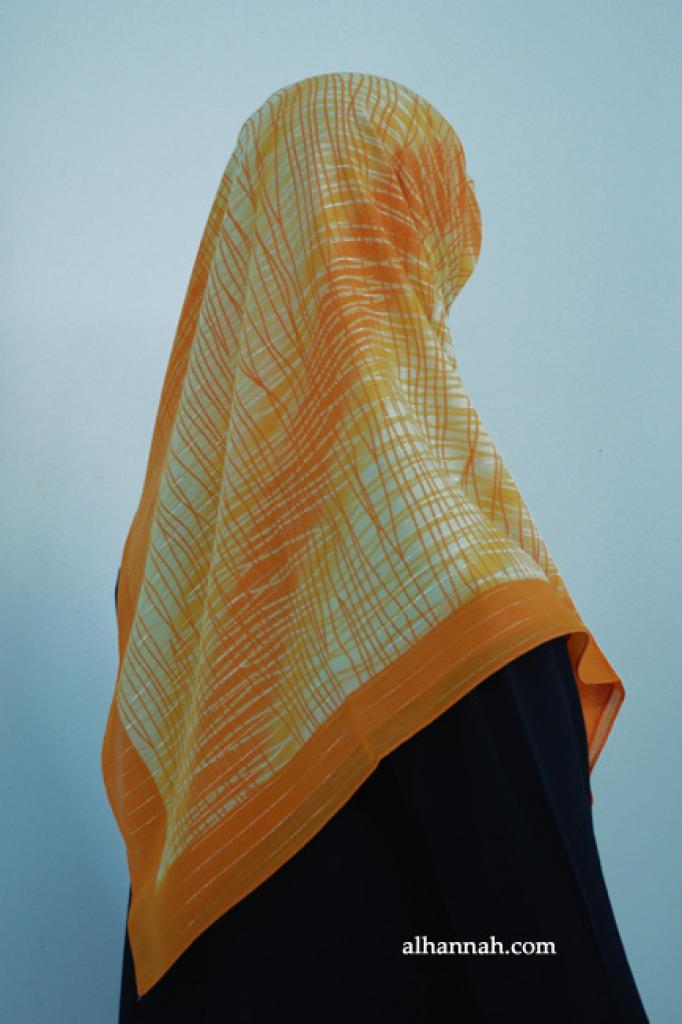 Printed Turkish Georgette Hijab hi1886