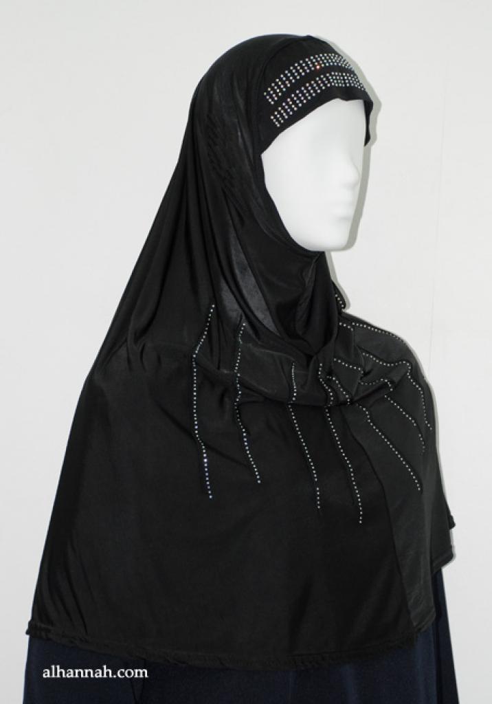 Al-Amirah One Piece Beaded Hijab  hi1895