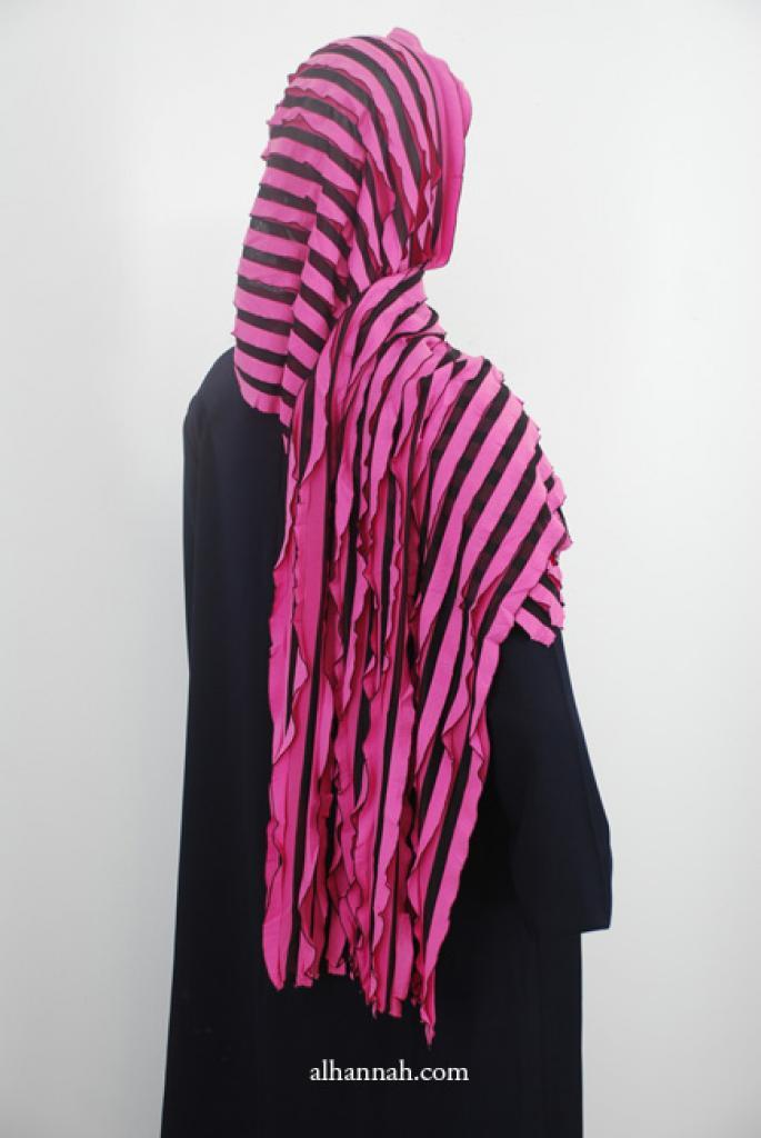 Striped Stretch Ruffled Shayla hi1908