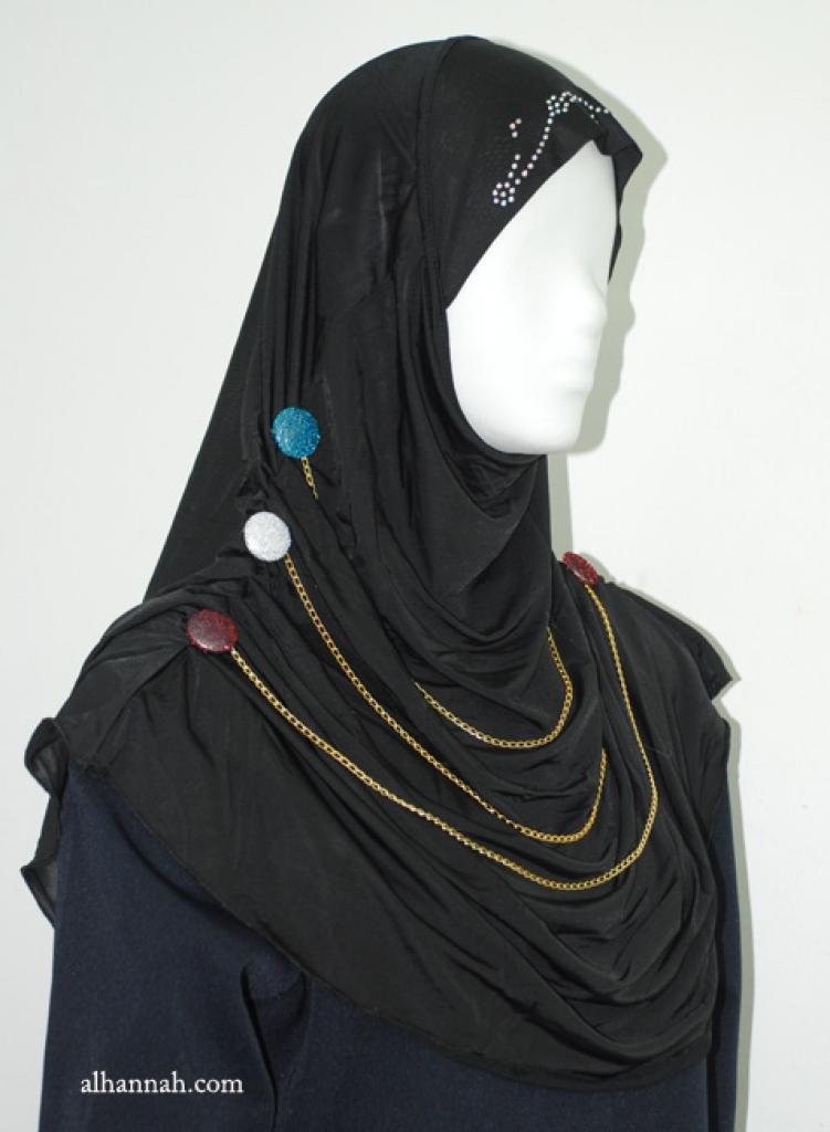 Beaded Al Amirah One-piece Hijab hi1915