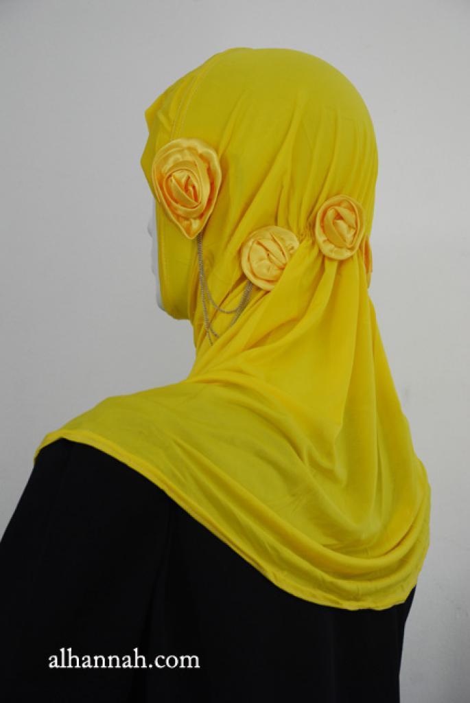 Rouched Floral Al Amirah Hijab hi1916
