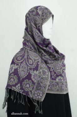 Fringed Shayla with Metallic Thread Jaquard Design hi1921