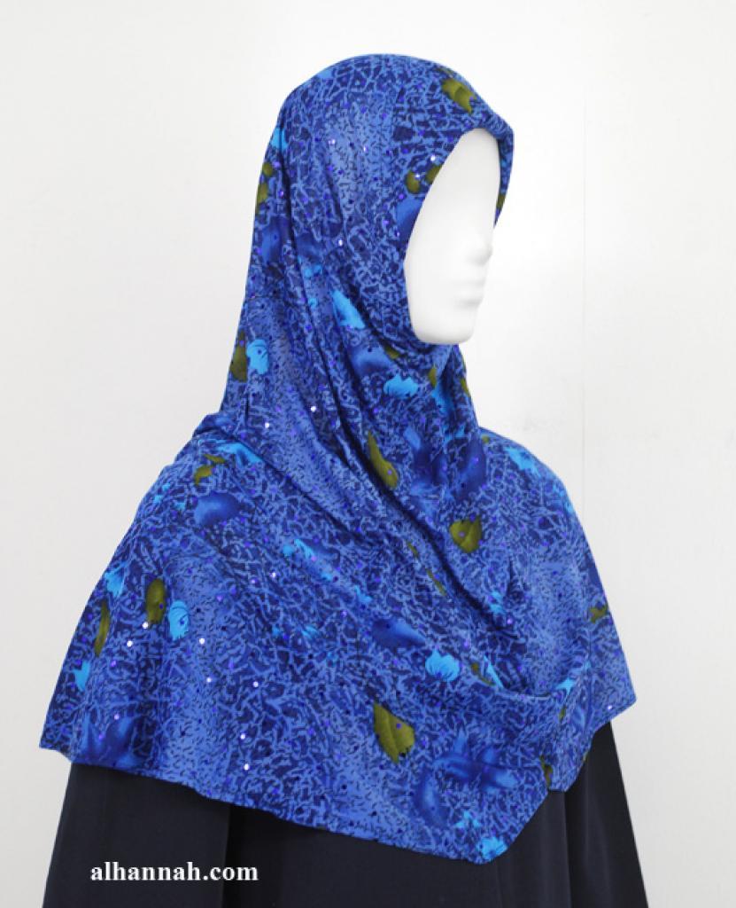 Floral Print Al Amirah Hijab hi1926