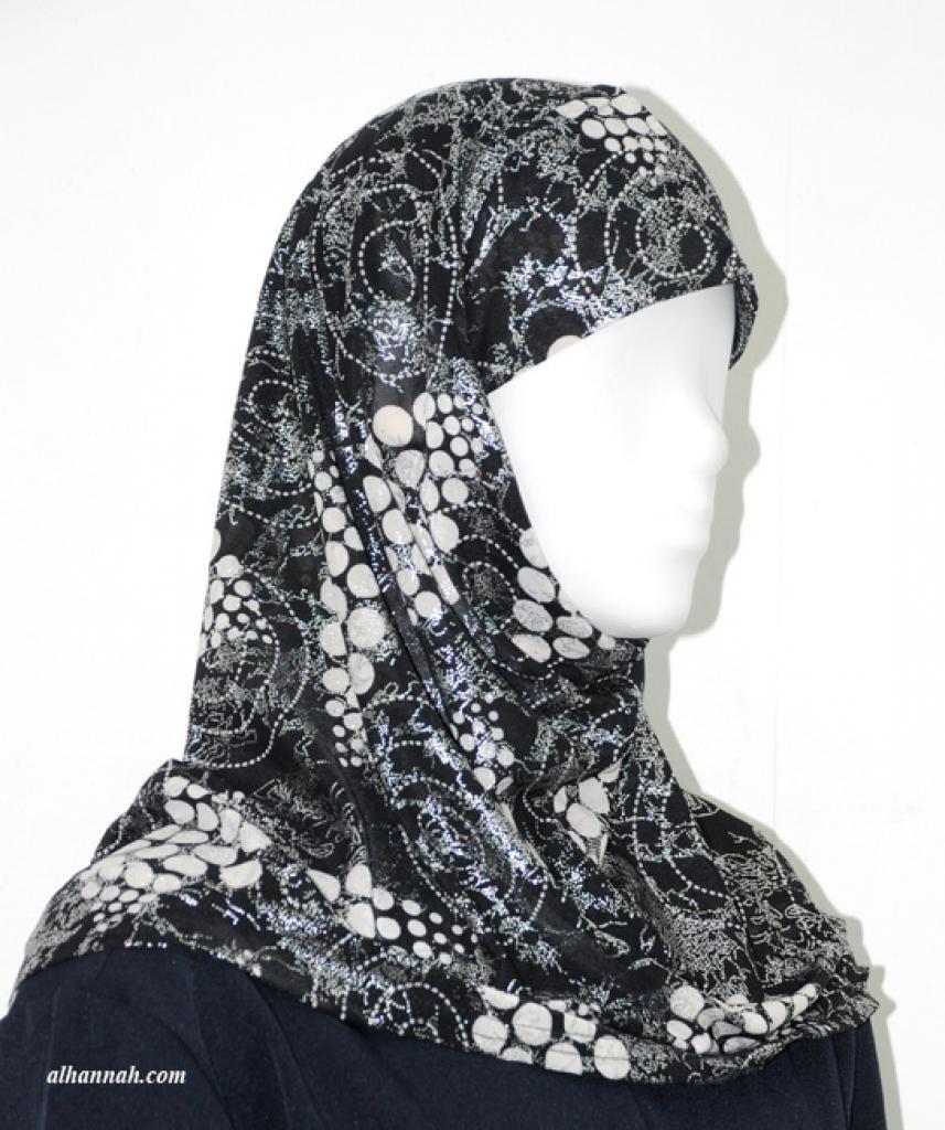 One Piece Printed Al Amirah Hijab hi1928