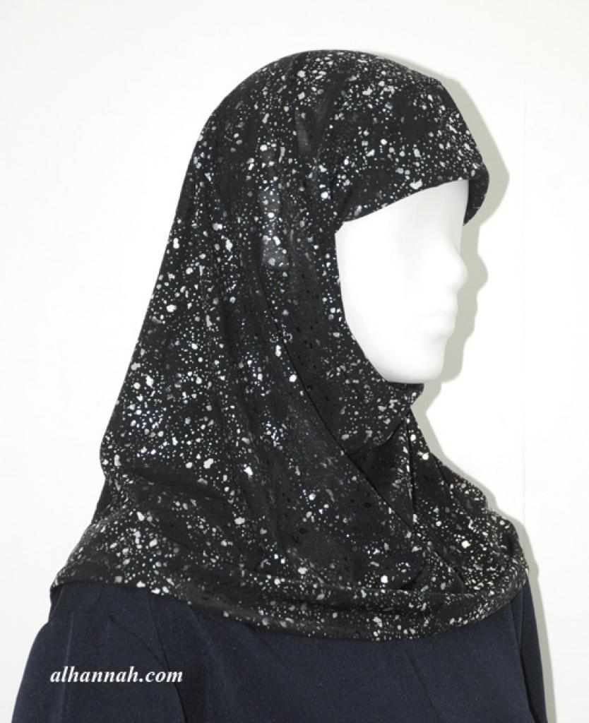 One Piece Printed Al Amirah Hijab hi1930