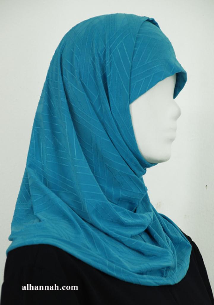 Two Piece Jacquard Al Amirah Hijab hi1935
