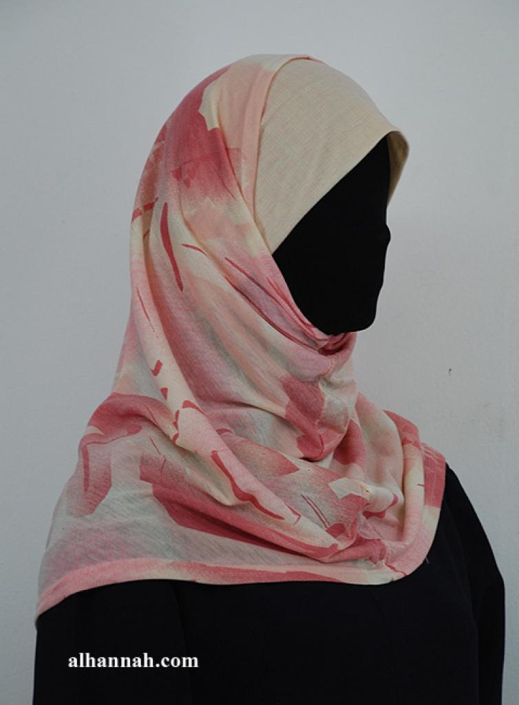 Two Piece Printed Al Amirah Hijab hi1937