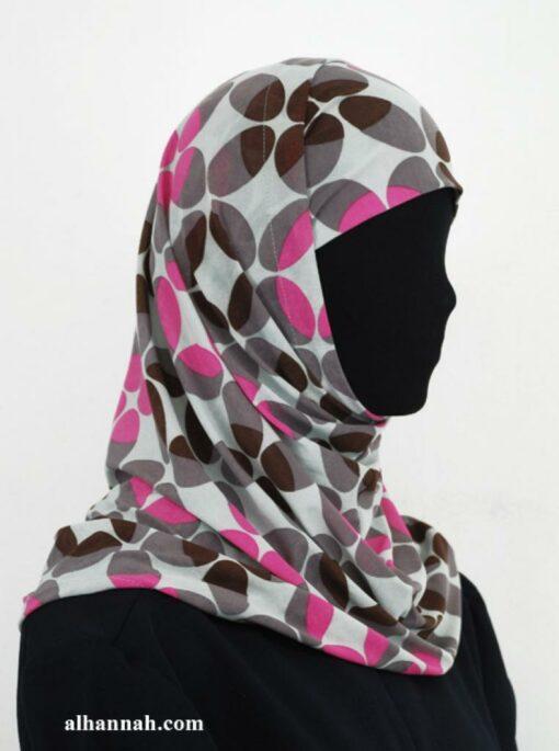 Two Piece Printed Al Amirah Hijab hi1938