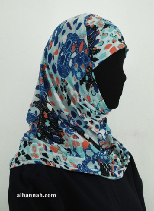 Two Piece Printed Al Amirah Hijab hi1939