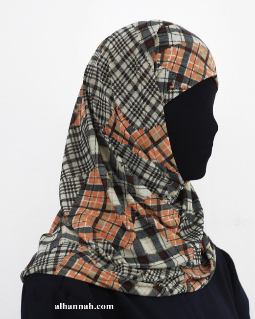 Two Piece Printed Al Amirah Hijab hi1940