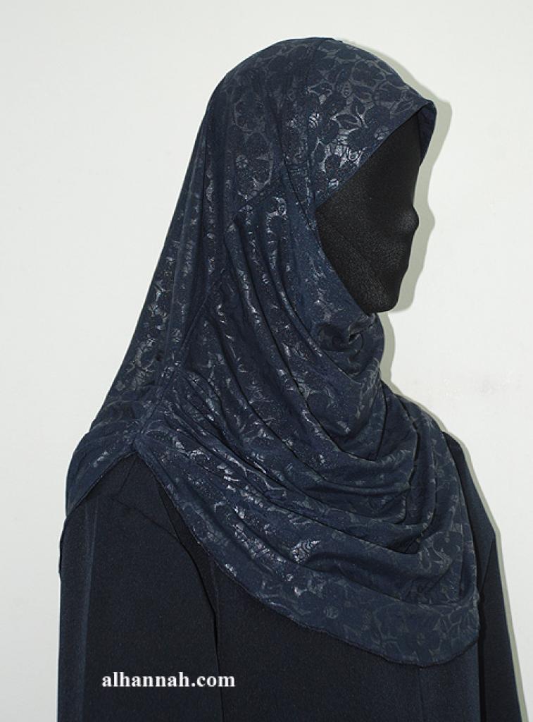 Two Piece Jacquard Al Amirah Hijab hi1942