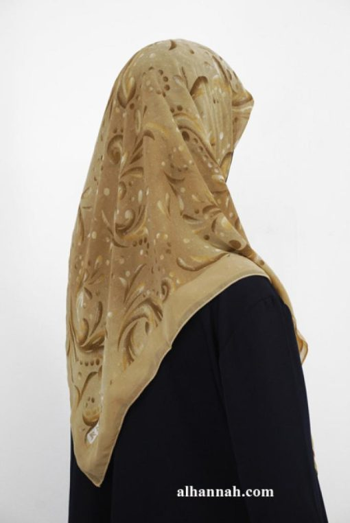 Printed Turkish Georgette Hijab hi1951