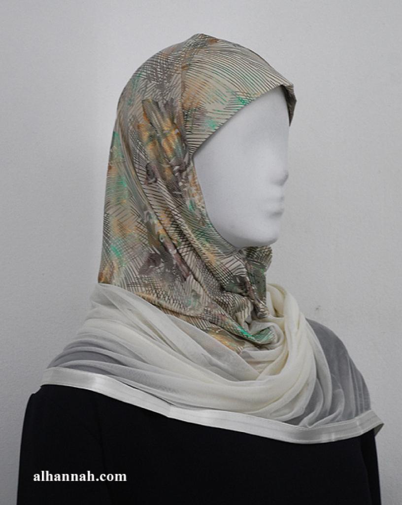 Kuwaiti style twist hijab hi1952