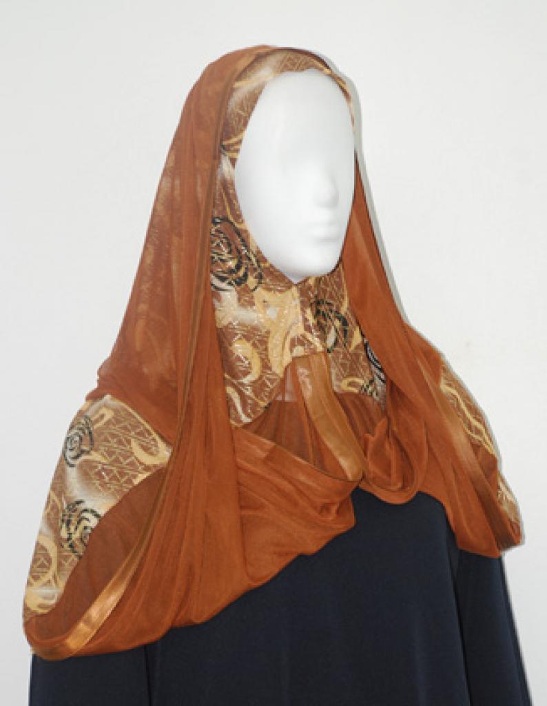 Kuwaiti style twist hijab hi1954