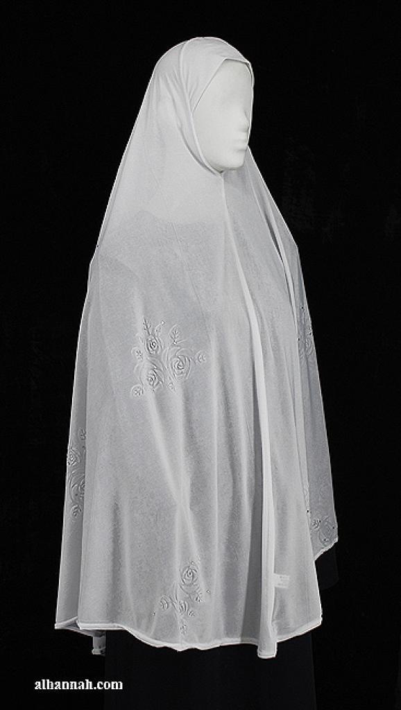 XXL Beaded and Embroidered Al Amirah Hijab hi1955