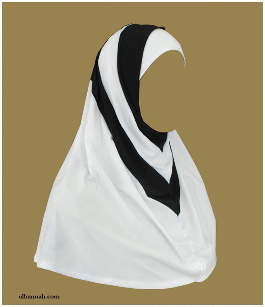 Duotone Stripe Two Piece Religious Veil hi1966