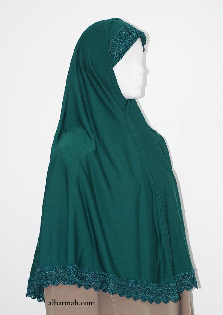 Extra Long Al-Amira Two piece Religious Veil hi1967