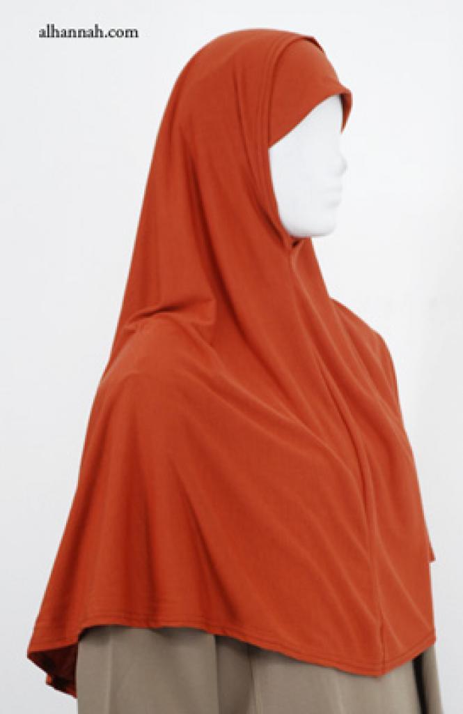 Extra Long Al-Amira Two piece Religious Veil - Plain Edge hi1968