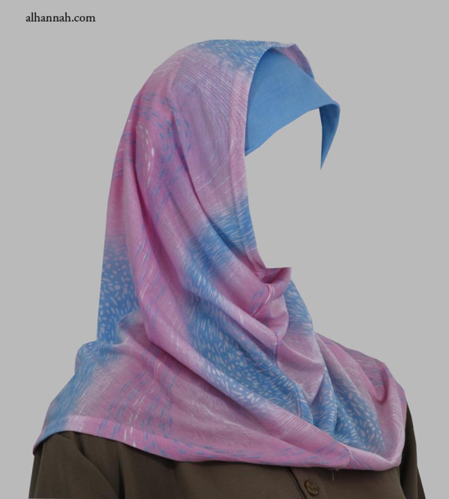 Two Piece Printed Al Amirah Hijab hi1972