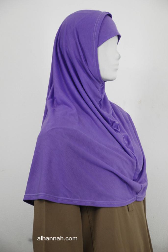 Two Piece Solid Color Al Amirah Hijab hi1997