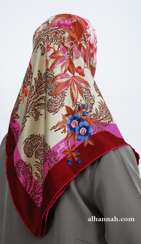 Turkish Floral Printed Hijab hi2007